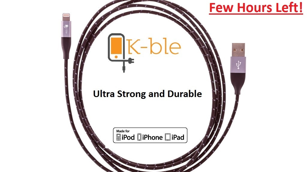 Strong & Rugged Cable for iPhone & iPad in various lengths project video thumbnail