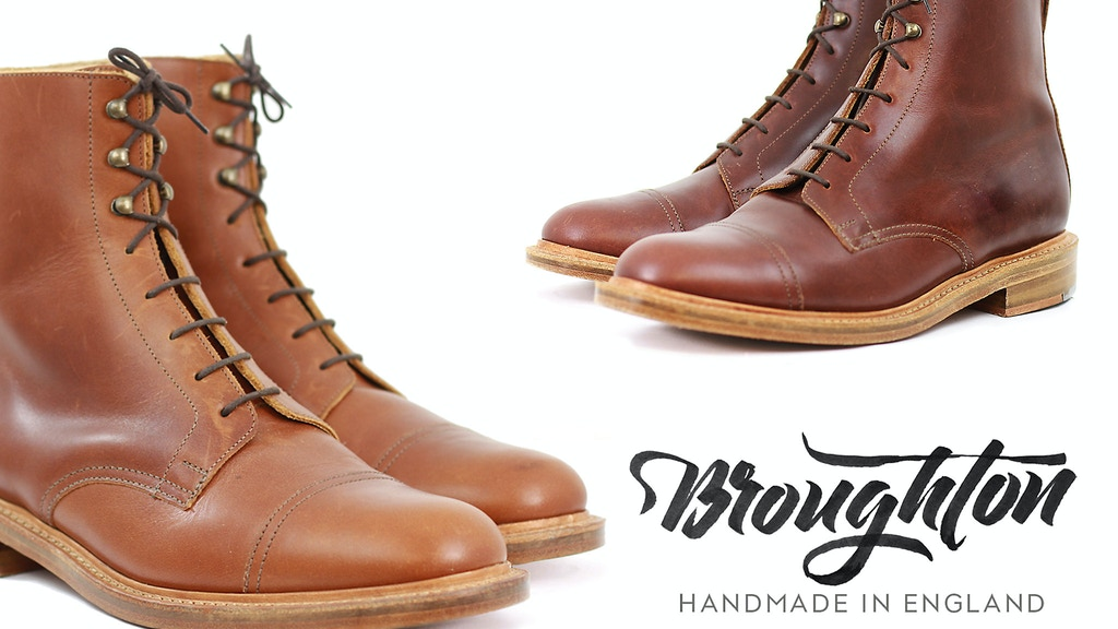 Broughton Boots - Handmade in the heart of England project video thumbnail