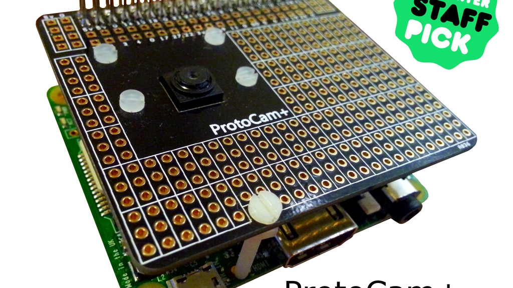 ProtoCam+ Raspberry Pi A+ B+ Camera Module Add-On Board project video thumbnail