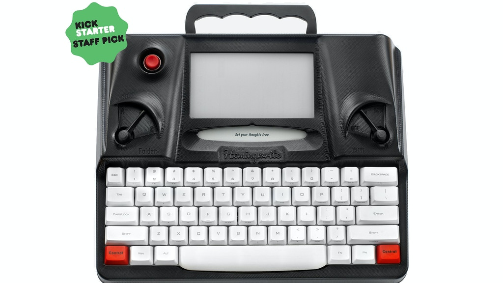 Hemingwrite - A Distraction Free Digital Typewriter project video thumbnail