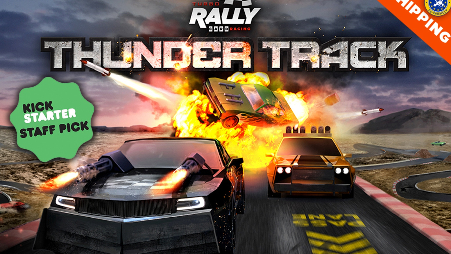 V-8 meets C-4 in this supercharged and explosive new sequel to the popular Turbo Rally Card Racing. NOW WITH LOWER SHIPPING!