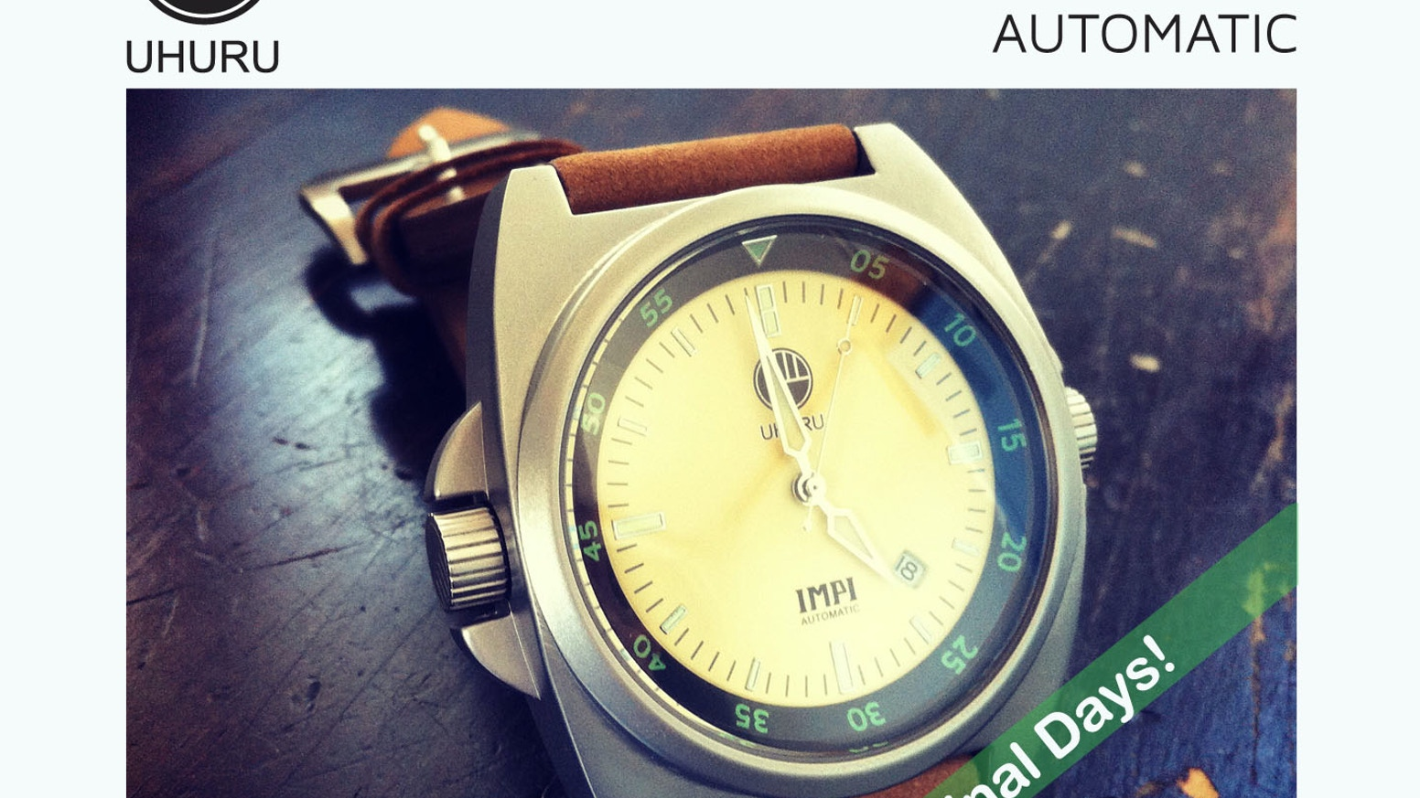 A new twist on mechanical watch design. Uhuru Watches is proudly South African with global aspirations.