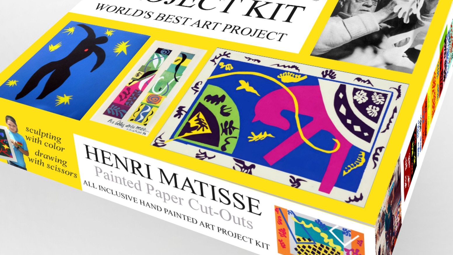 henri matisse painted paper cut outs project kit by patrick durkin