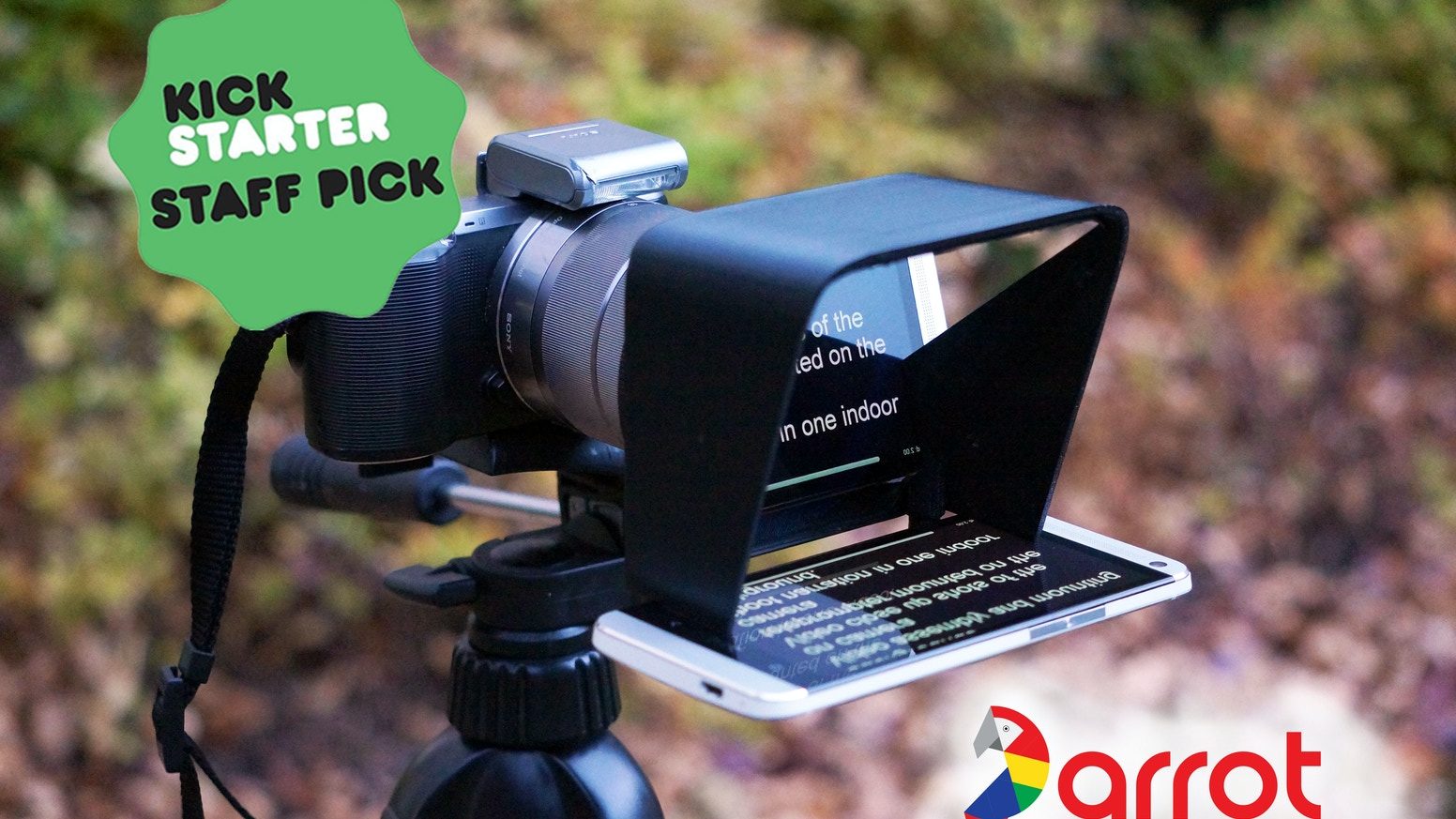 Finally, a compact and affordable teleprompter for camcorders, and DSLR cameras. Perfect for video professionals, bloggers, Indy films, and more.