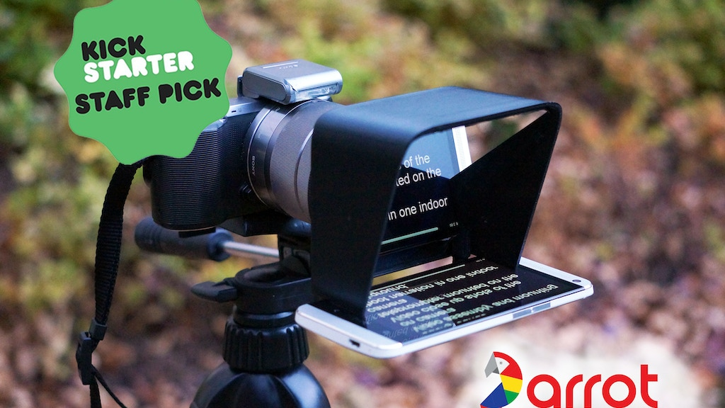 The Parrot | A compact teleprompter for DSLR cameras project video thumbnail