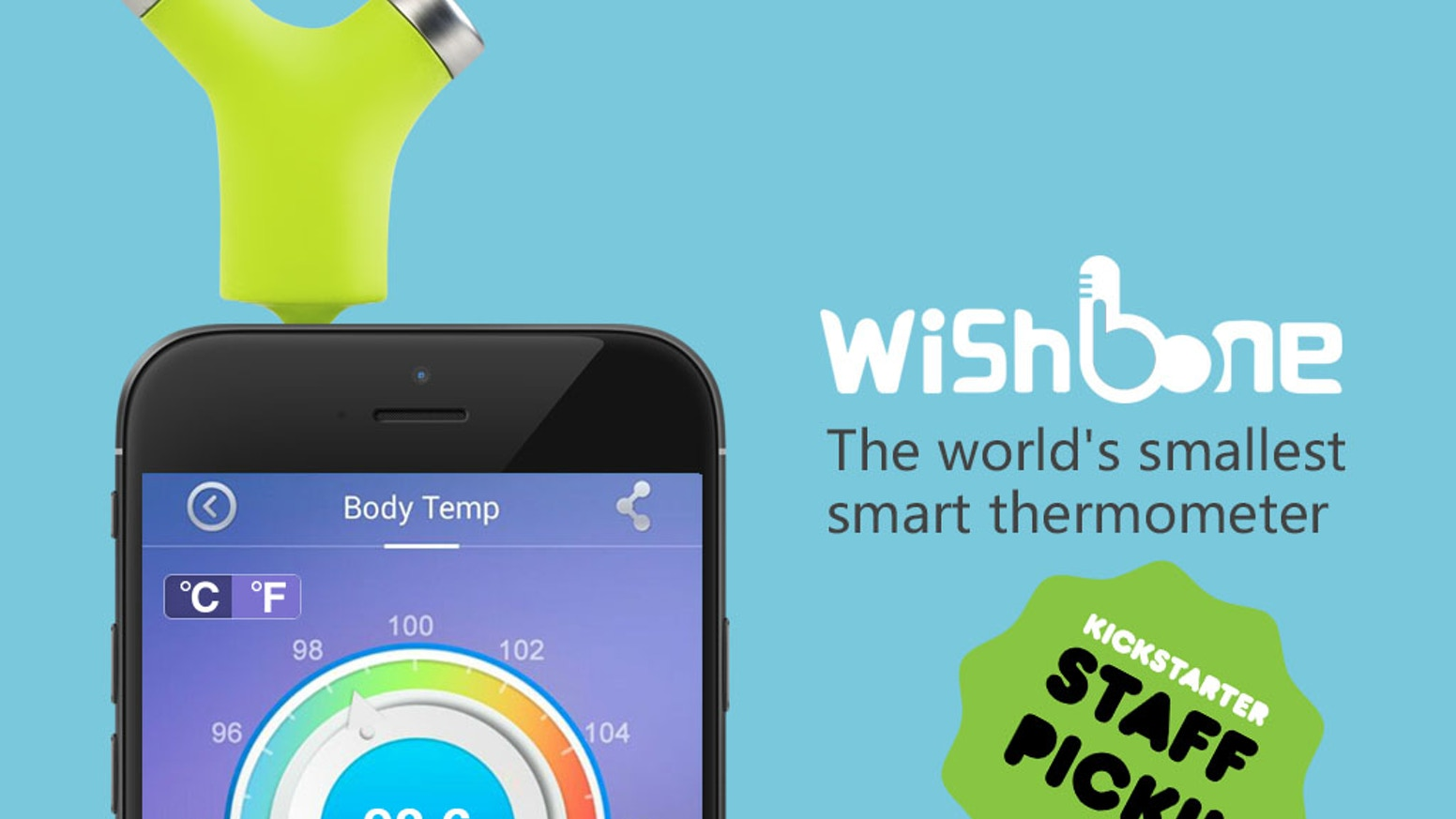 Wishbone is the world's smallest and easiest-to-use smart thermometer. It can accurately check body, object or environment temperature.