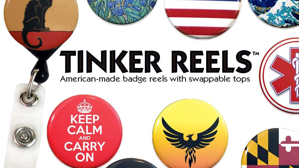 Tinker Reels: ID Badge Reels with Full-Color Changeable Tops project video thumbnail