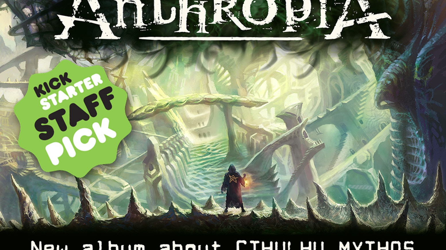 "Help us release ""Non-Euclidean Spaces"", our new album based on Cthulhu Mythos, featuring Arjen Lucassen & Edu Falaschi."