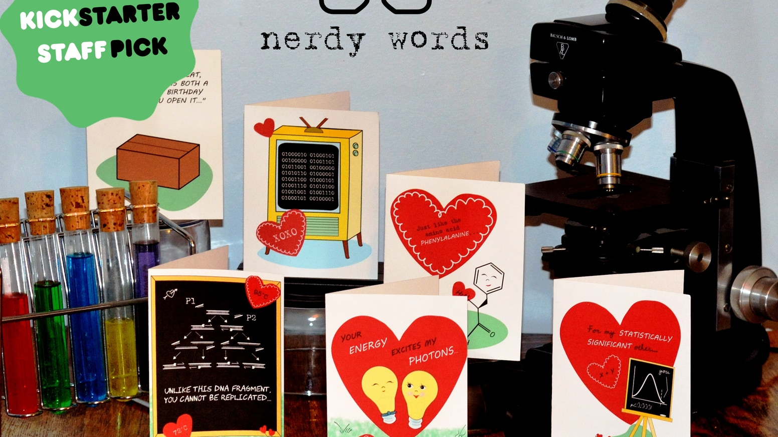 Valentines Day Greeting Cards For That Geeky Science Lover By