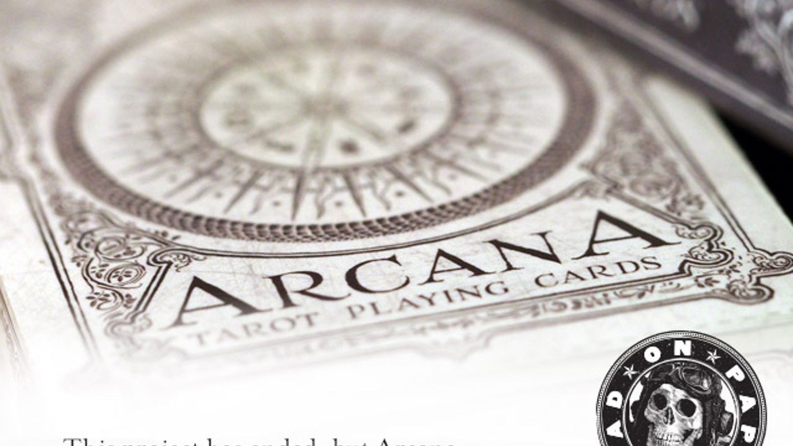Playing cards inspired by the Tarot. Arcana is a new deck of custom hand-drawn playing cards printed by USPCC.