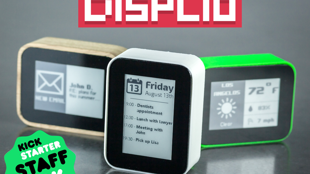 DISPLIO - WiFi display that tracks what's important to you project video thumbnail