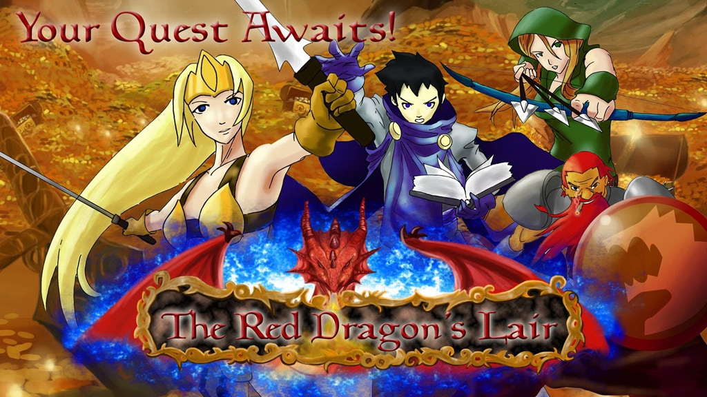 The Red Dragon's Lair 7 Player & Solo Adventure Card Game project video thumbnail