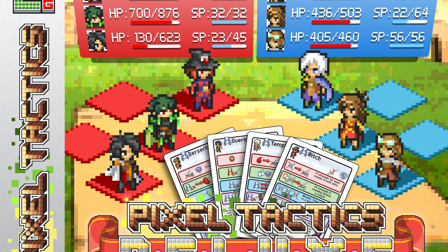 SRPG-style tactical battles, compressed into a pocket-size card game with over 140 hero classes, each with new skills!