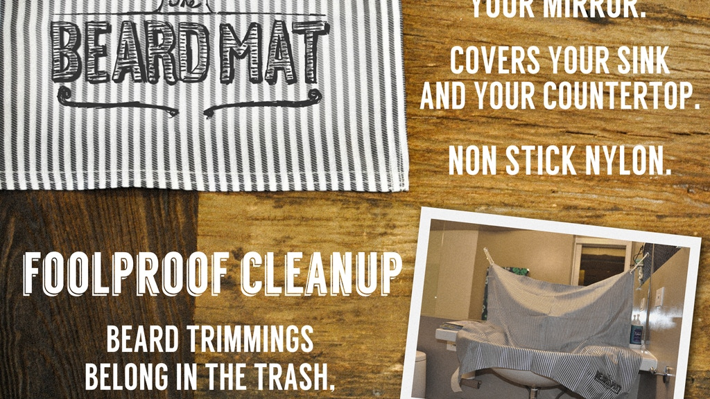 Project image for BeardMat: The cleanest way to trim your beard or mustache.