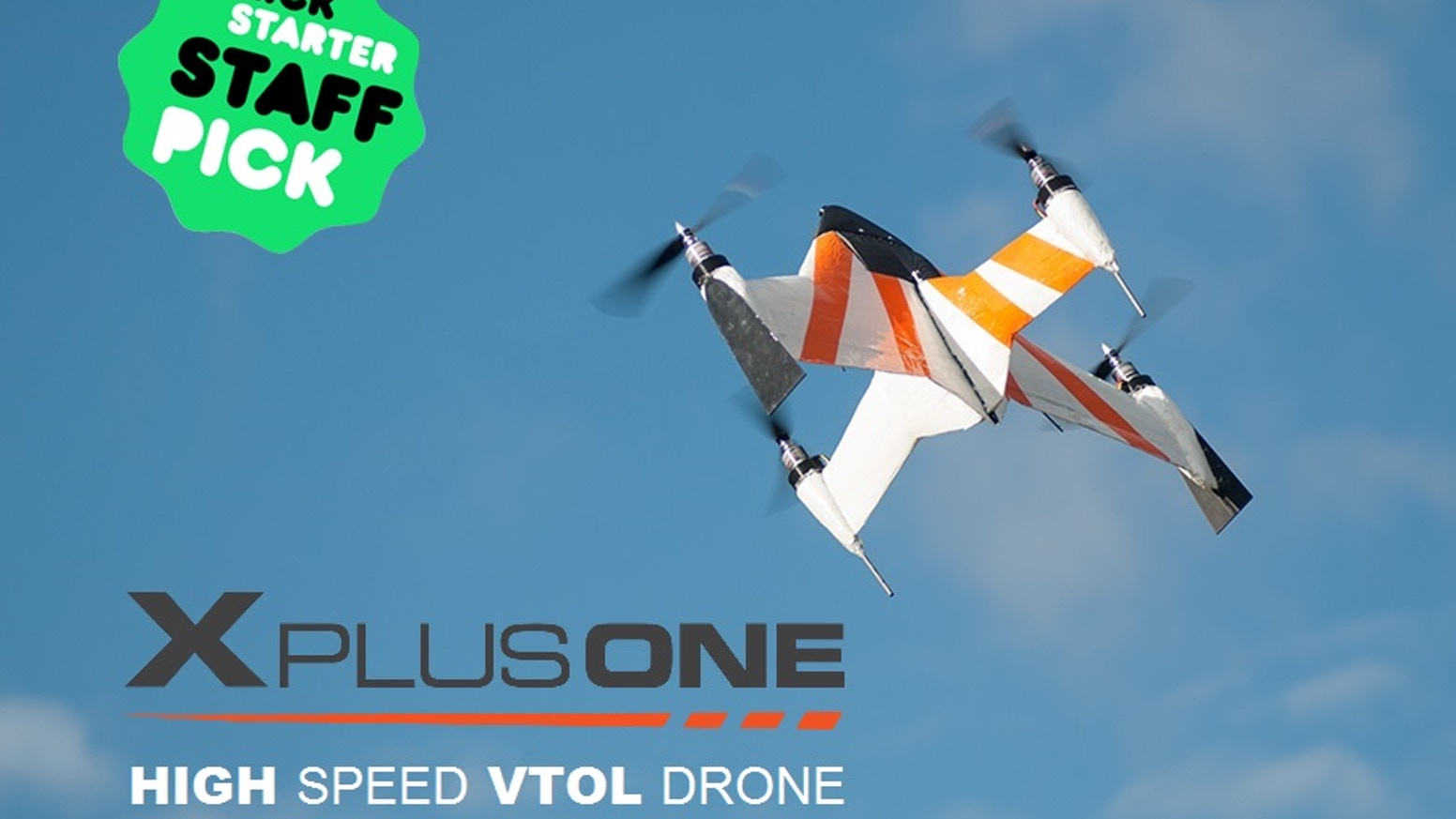 The X PlusOne is a revolutionary hybrid drone that combines the ability for both stabilized hover and remarkably fast forward flight.