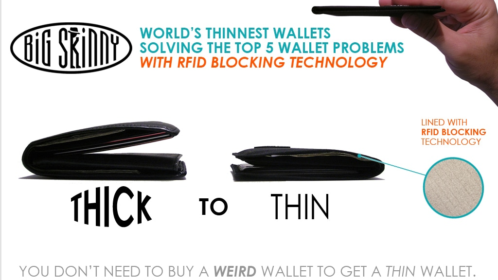 Big Skinny Wallets: Worlds Thinnest Wallets w/ RFID blocking project video thumbnail