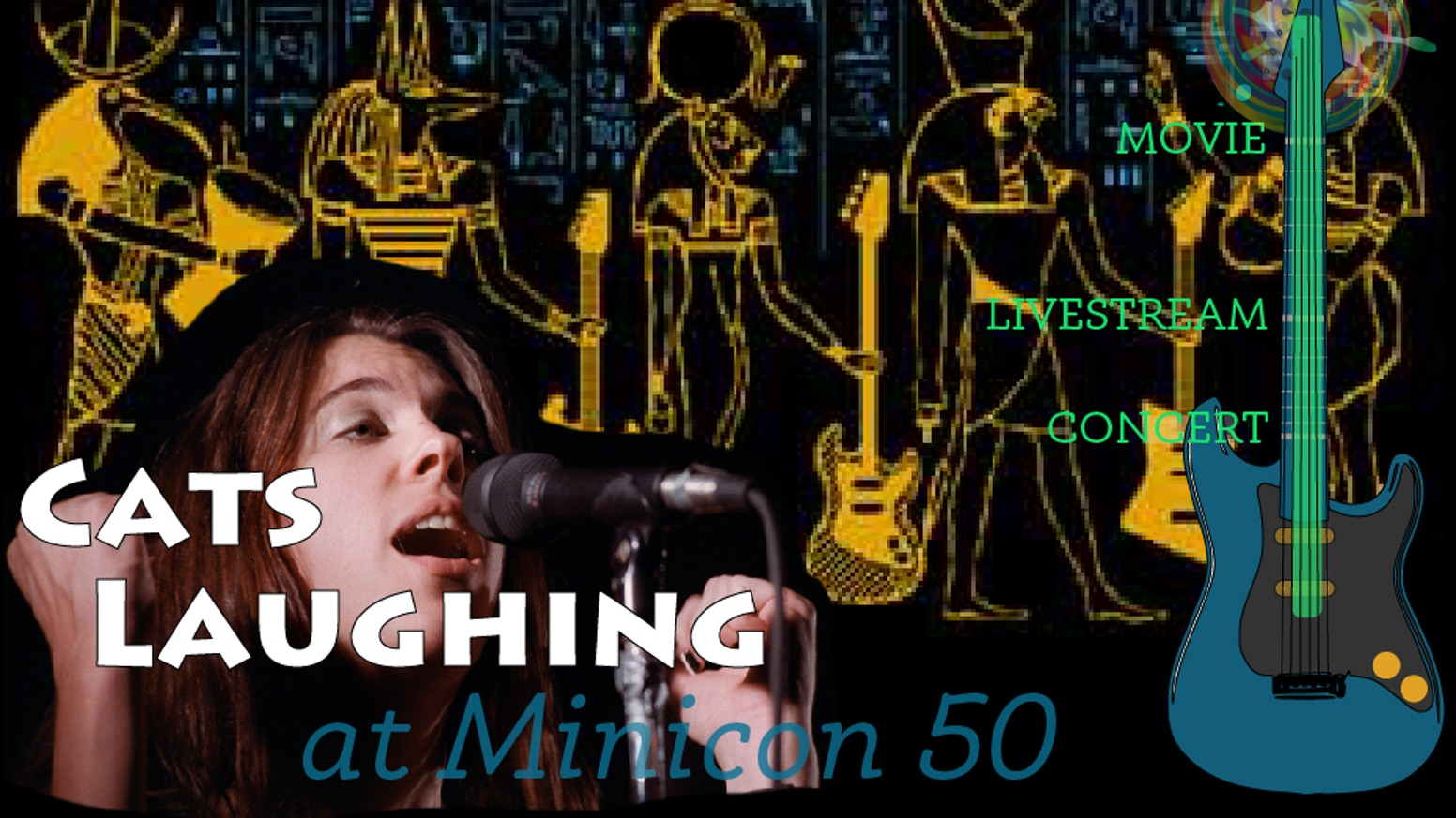 """Reunite the '80s band Cats Laughing for a live album.  """"We will say 'play songs for us Cats Laughing,' and they will.""""  -Neil Gaiman"""