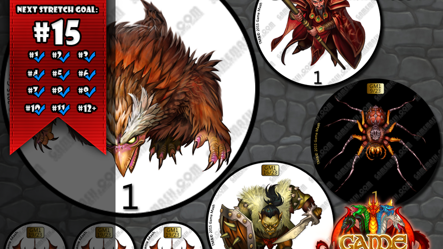 We work with top fantasy artists to create beautiful, low cost  monster tokens for use in any fantasy tabletop role-playing game.