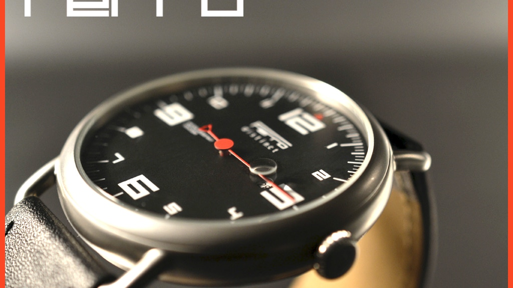 Ferro Watch | A Watch  Inspired by Sports Car Tachometer project video thumbnail