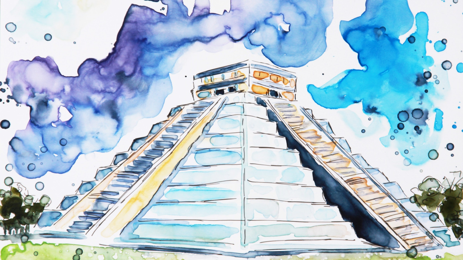 Custom watercolor paintings of YOUR travels and a book of the entire collection!  Simple sketches starting at $15!  Join the journey!