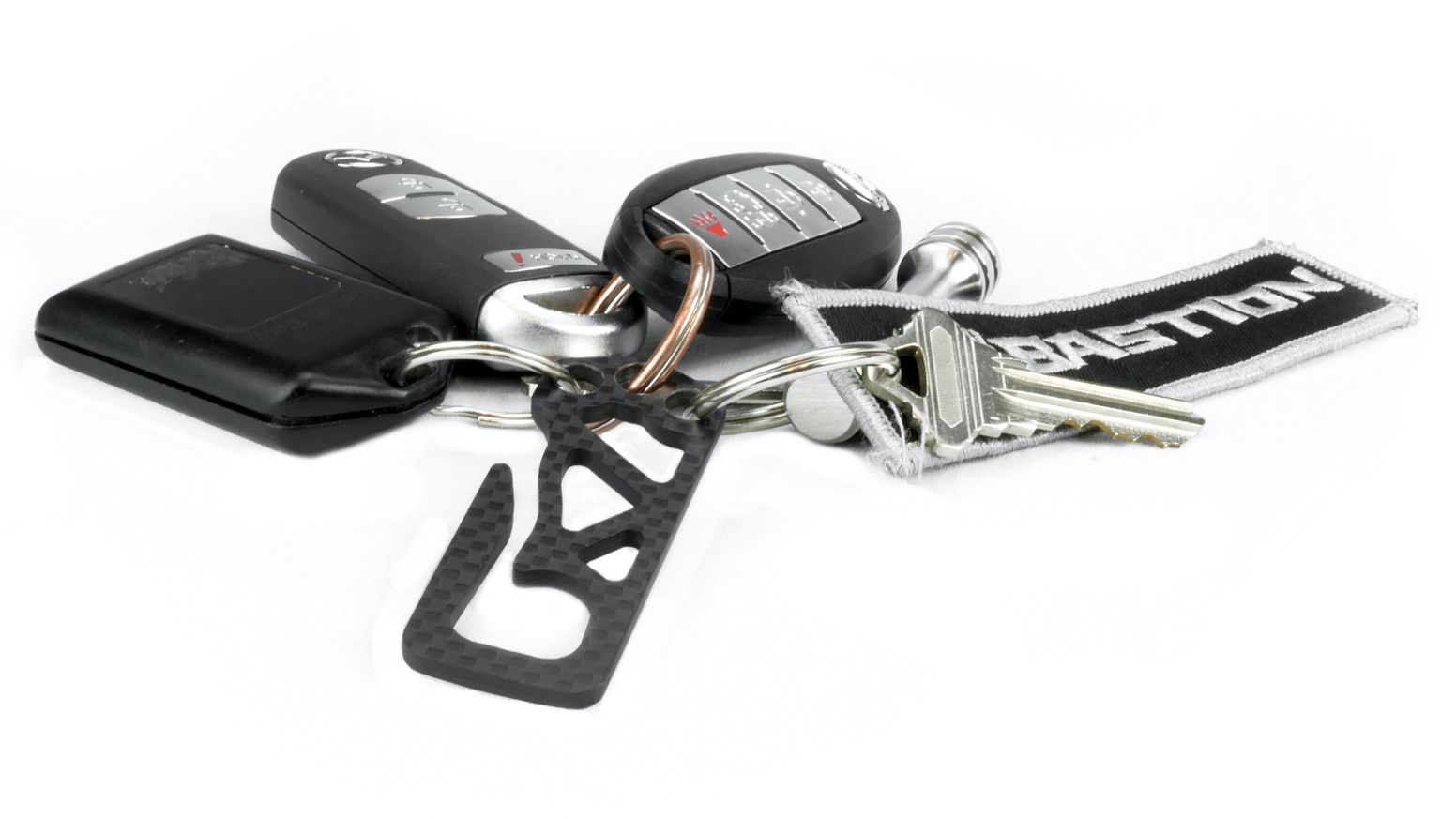 Stylish, ultra-light, and modern carbon fiber belt clip keeps your keys organized and within reach at all times. MUST HAVE for EDC GEAR