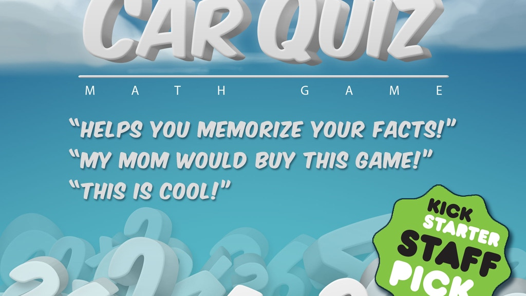 CarQuiz Math Game - Great for Math Practice! by Smile More Studios ...