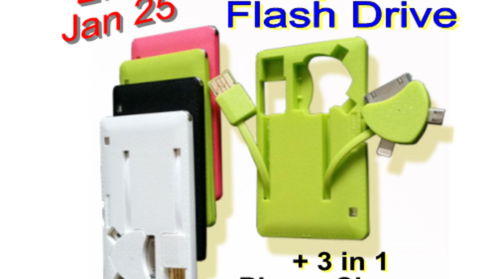 Hydra Flash Drive + 3 in 1 Phone Charger: USB Cable/Battery project video thumbnail