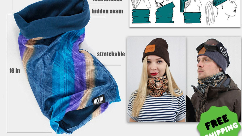 Neck Warmers by VIVID Clothing - Style and Comfort project video thumbnail