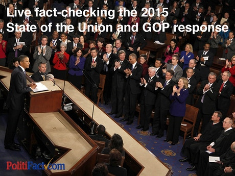 Live fact-checking 2015 State of the Union and GOP ...
