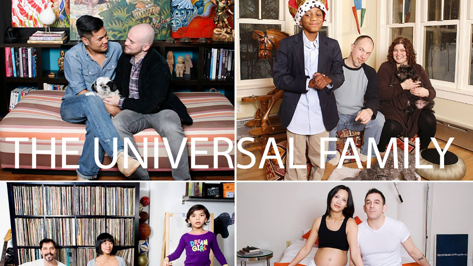 The Universal Family is a portrait series uniting the human race through the spirit of family & the fact that love has no boundaries.