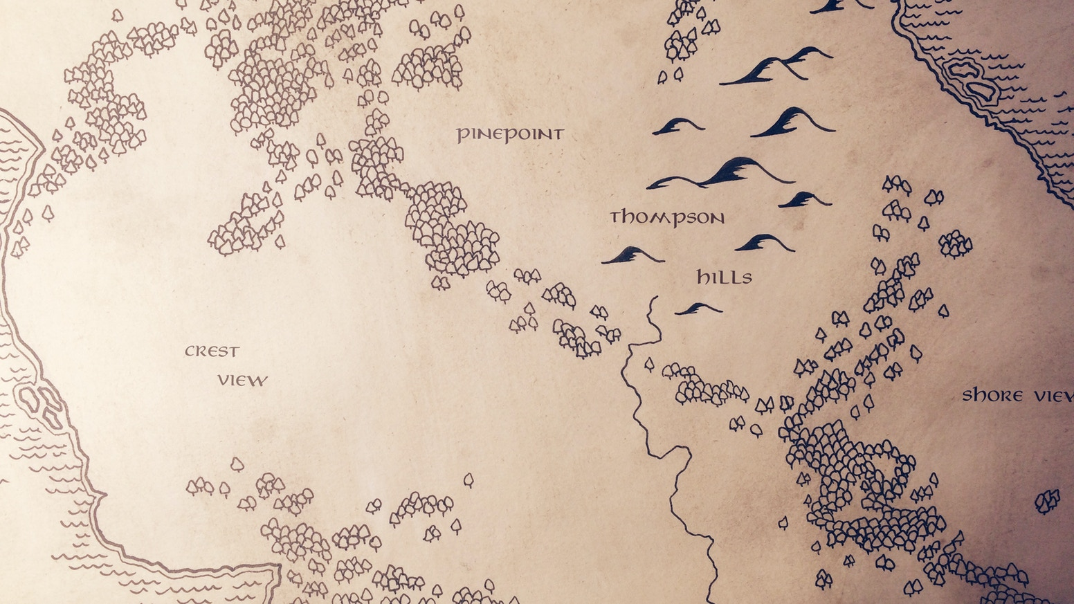 get a custom hand drawn tolkien inspired map in the style of the lord of the rings and the hobbit