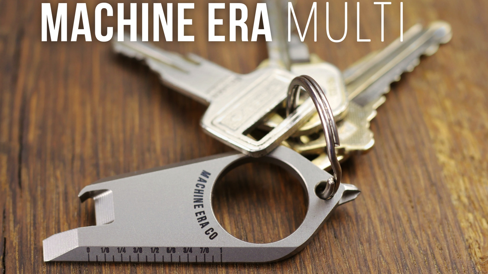 Introducing: Machine Era MULTI. A simple, functional, & sleek titanium multi-tool.  Rethink Your Everyday Carry.