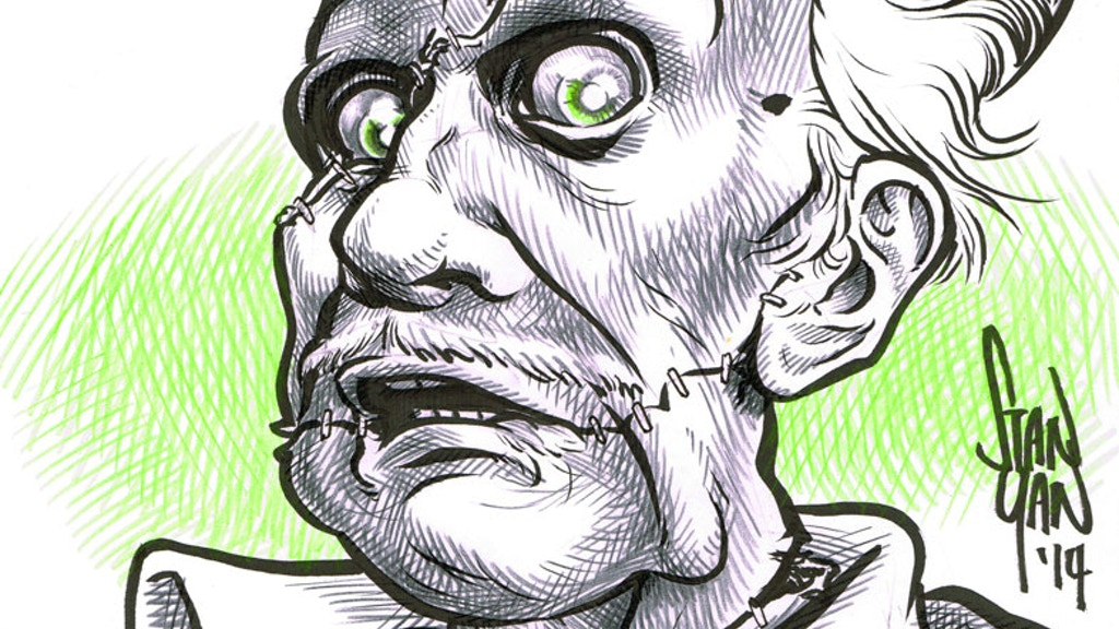 Vincent Price Comic Book caricature project project video thumbnail