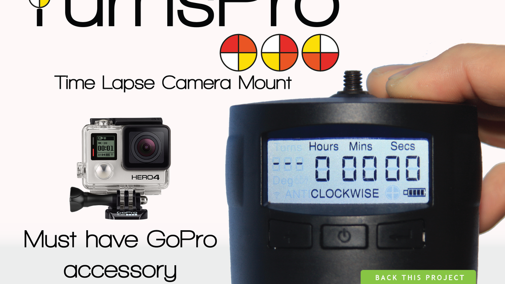 TurnsPro | Time Lapse Camera Mount - for everyone! project video thumbnail