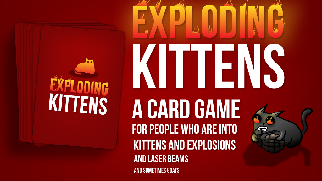 Exploding Kittens miniatura de video del proyecto