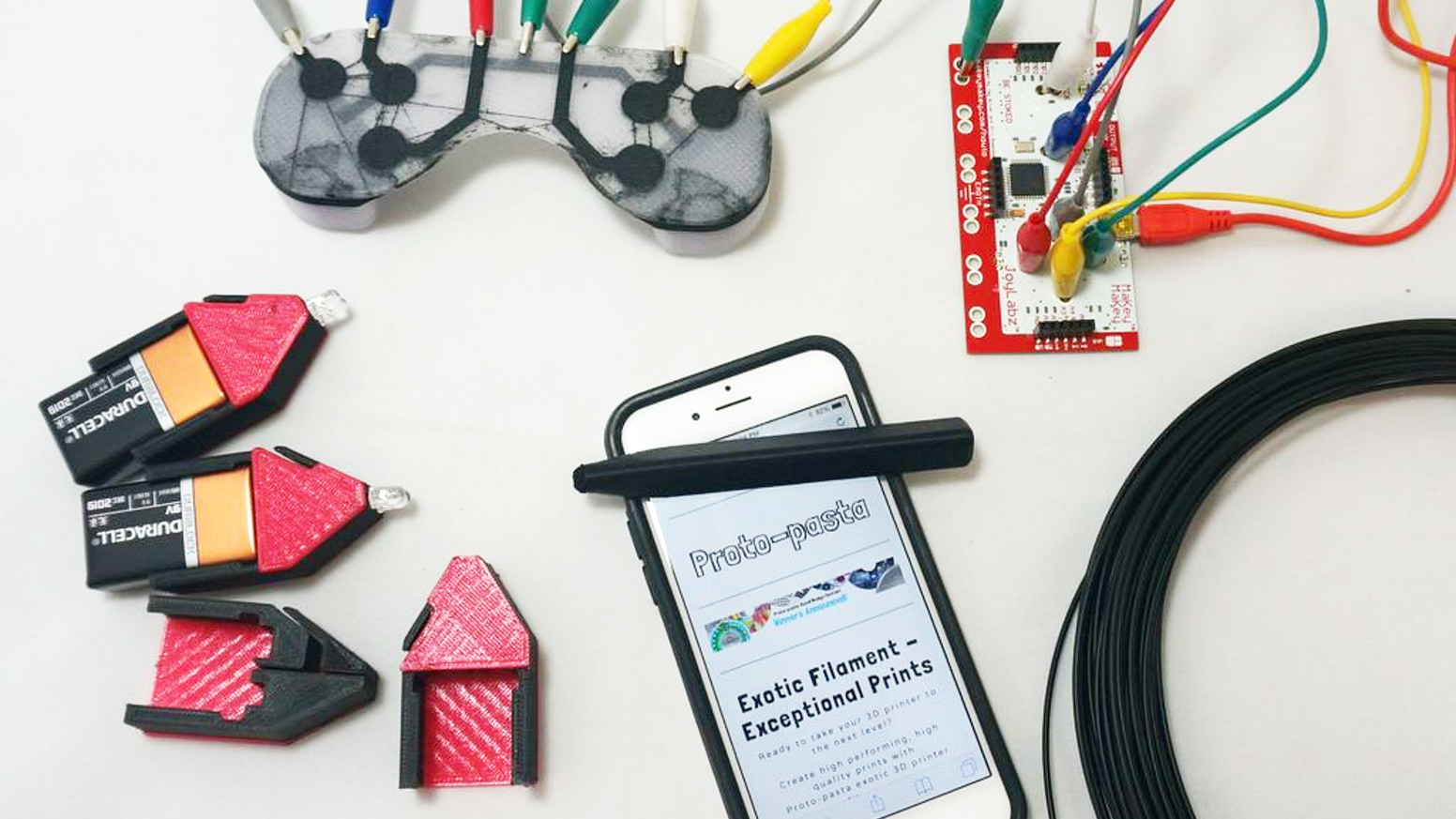 Electrically Conductive PLA 3D Printer Filament by ProtoPlant INC ...