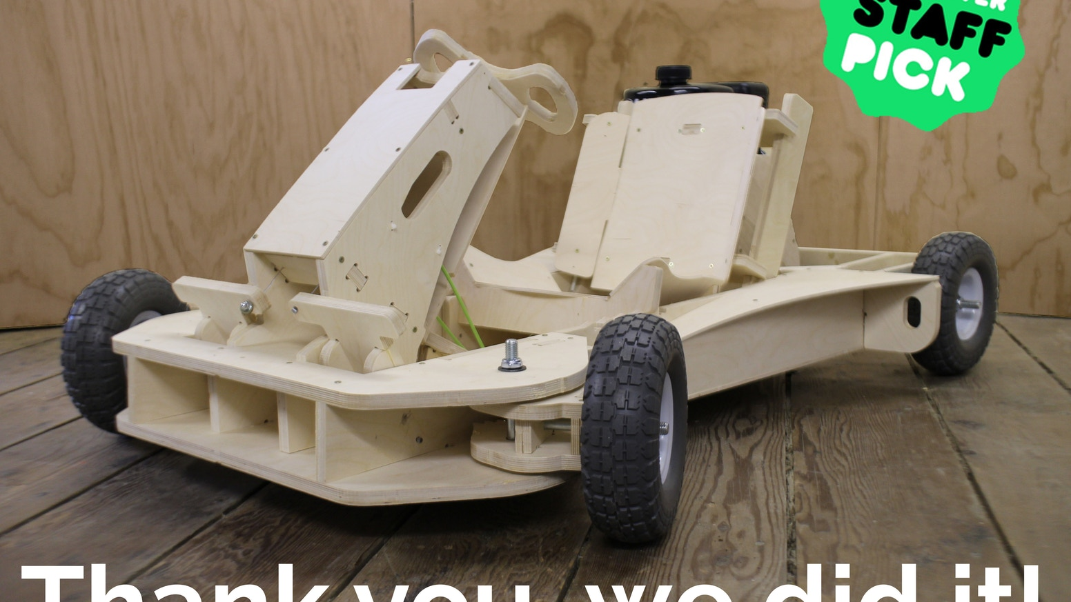PlyFly Go-Kart: A 25 MPH Wooden Roadster by The Flatworks