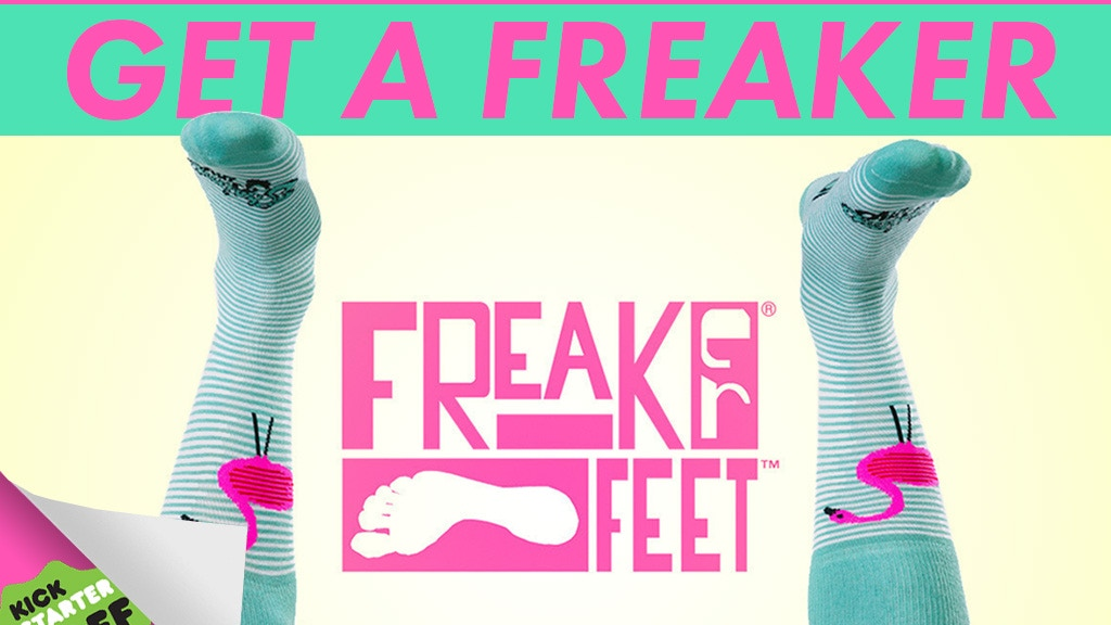 Freaker Feet! 127 USA made sock designs! project video thumbnail