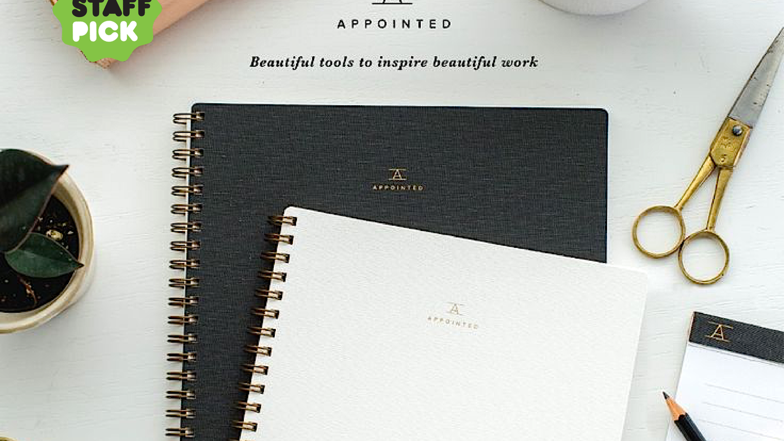 Beautiful tools to inspire beautiful work. Support the building of a brand and our signature product, the notebook.