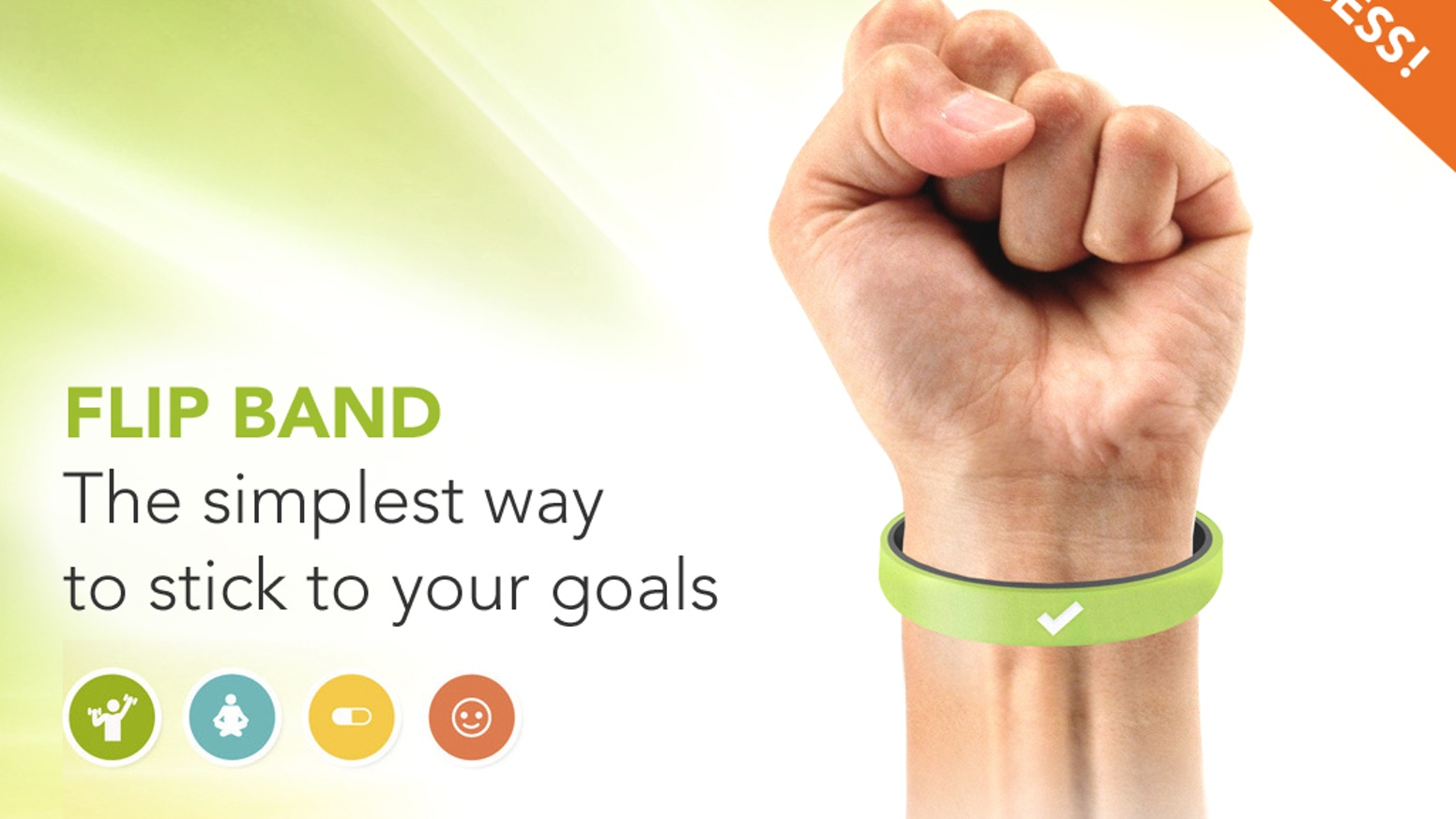 Wearing a FLIP BAND makes it impossible to forget your goals and boosts your chances of success (using a simple science-backed hack)