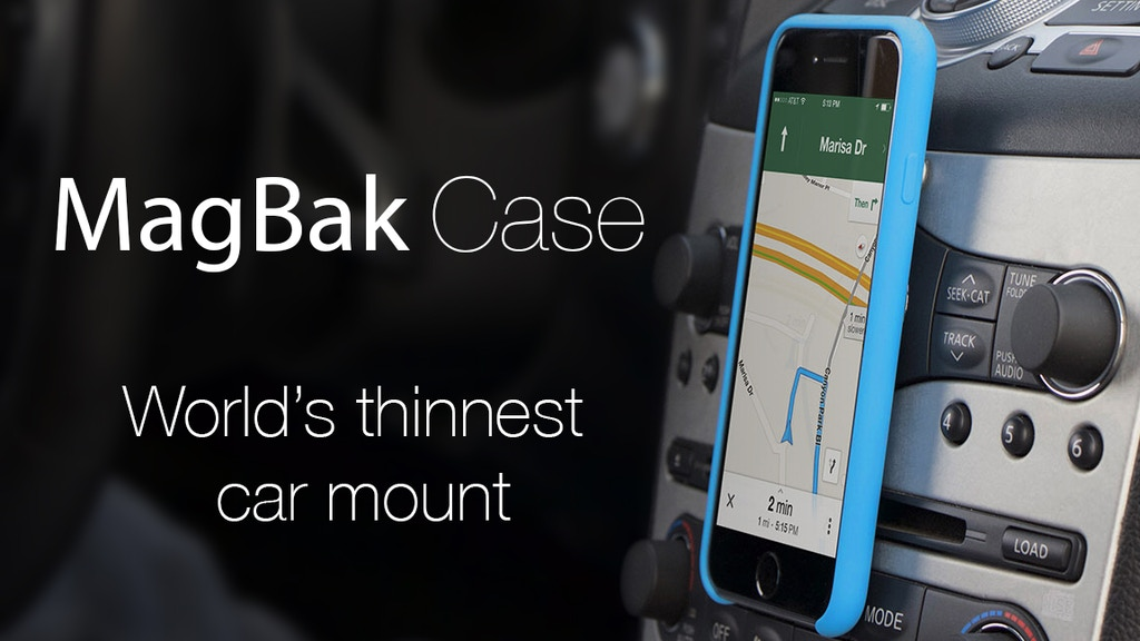 MagBak Case: World's thinnest car mount. project video thumbnail
