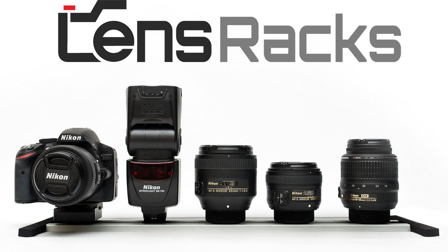 LensRacks is a modular camera lens and gear storage system that allows for swift lens changes.