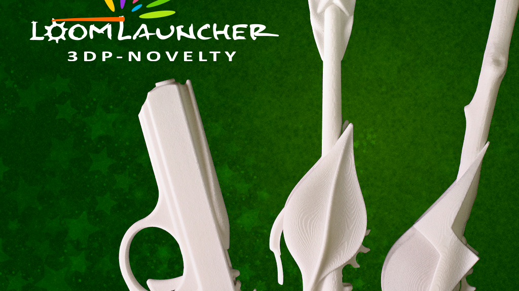 Loom Launcher: 3D printed rubber band shooter project video thumbnail