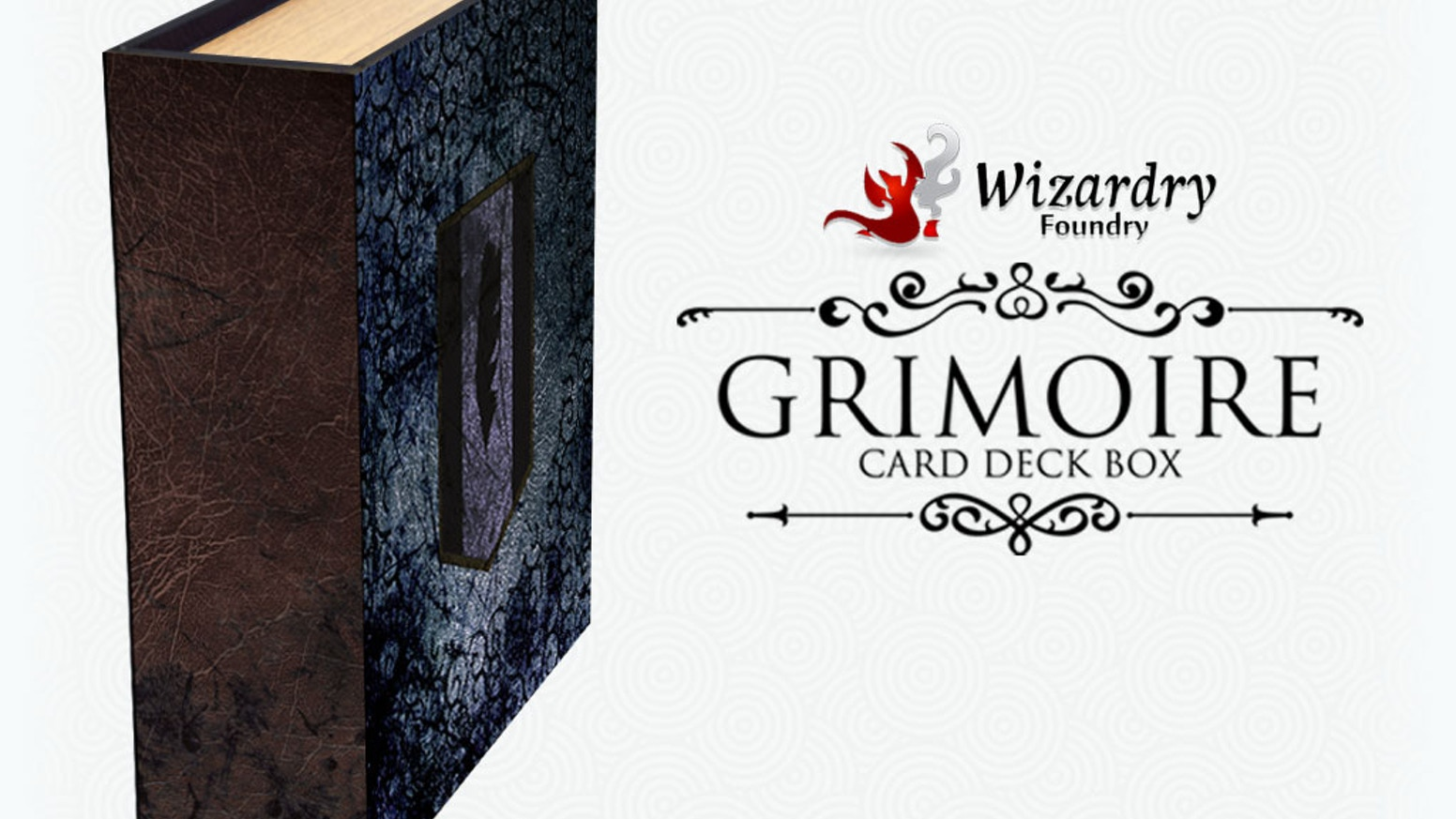 A smaller, more portable version of the Grimoire Deck Box, aimed to carry 3 decks and accessories. All your tournament needs in a box!