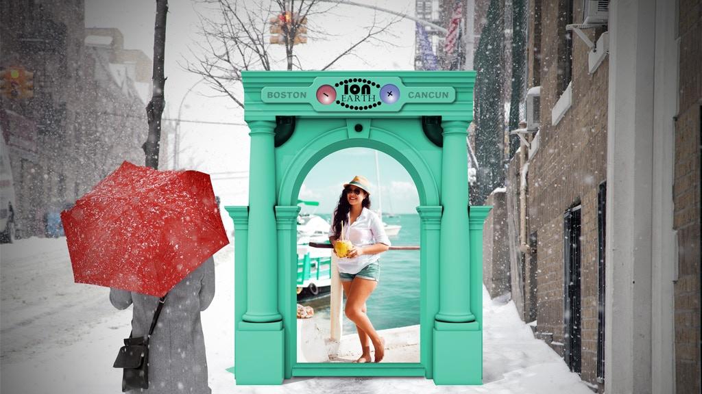Project image for Ion (Eye on) Earth - Sidewalk kiosk to link people worldwide