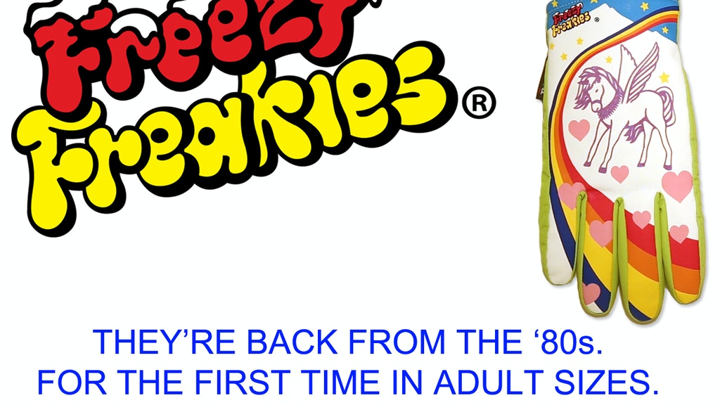 Freezy Freakies gloves - Back from the '80s. Now for adults! project video thumbnail