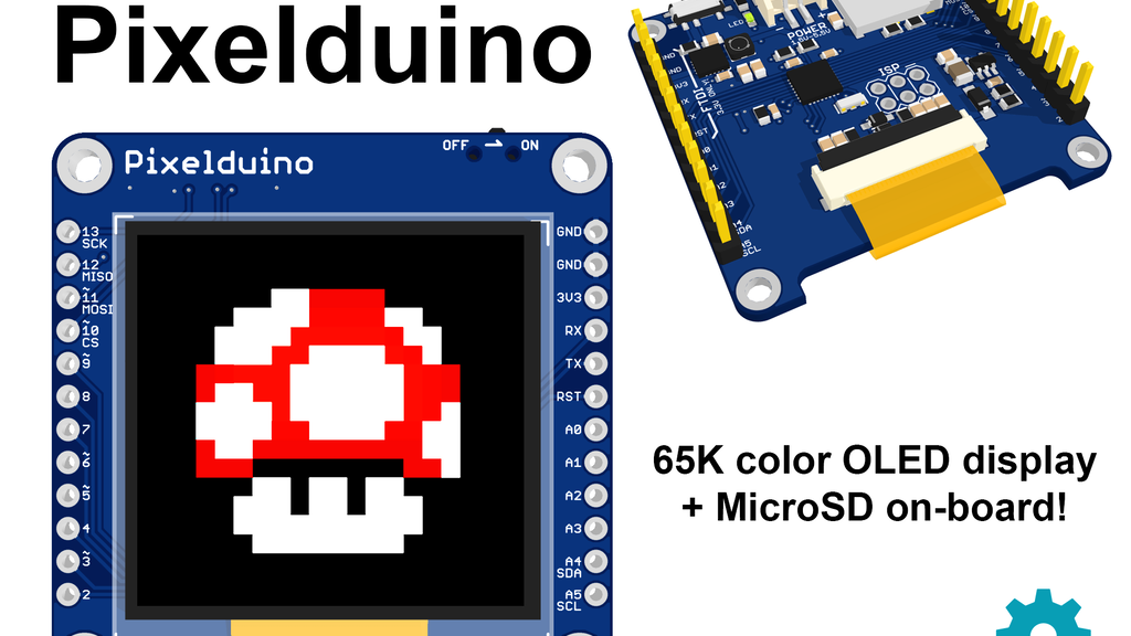 The Pixelduino - An Arduino with an awesome OLED display! project video thumbnail