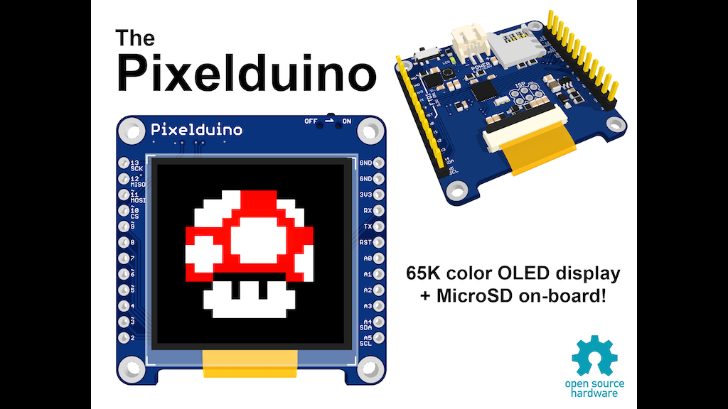 The pixelduino an arduino with awesome oled display
