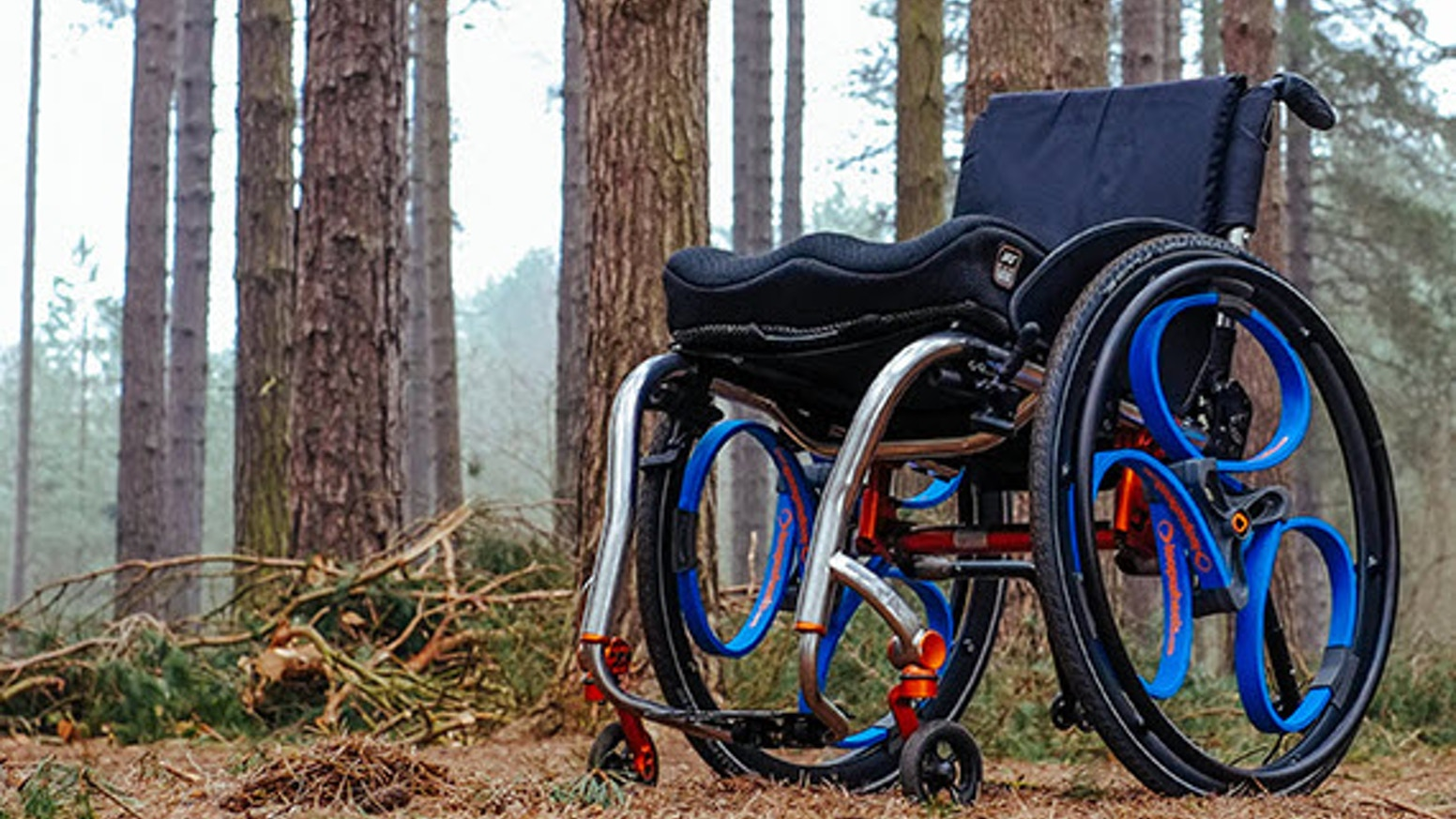Wheelchair wheels with integral suspension, helping you lead an active life more comfortably and with less effort.