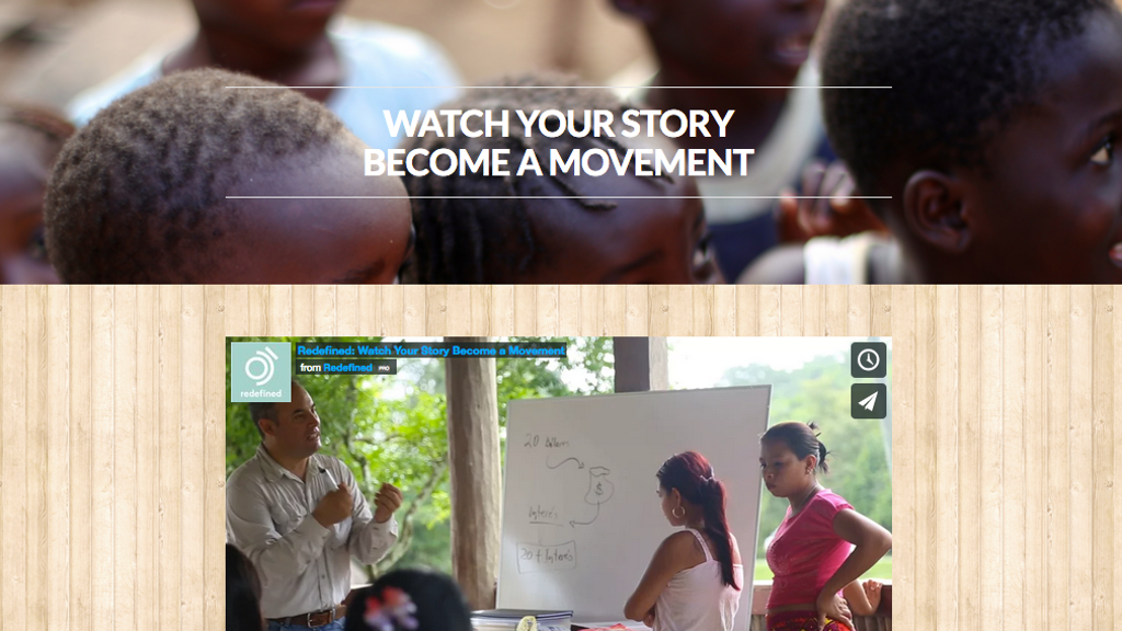 Redefined - Watch Your Story Become A Movement project video thumbnail